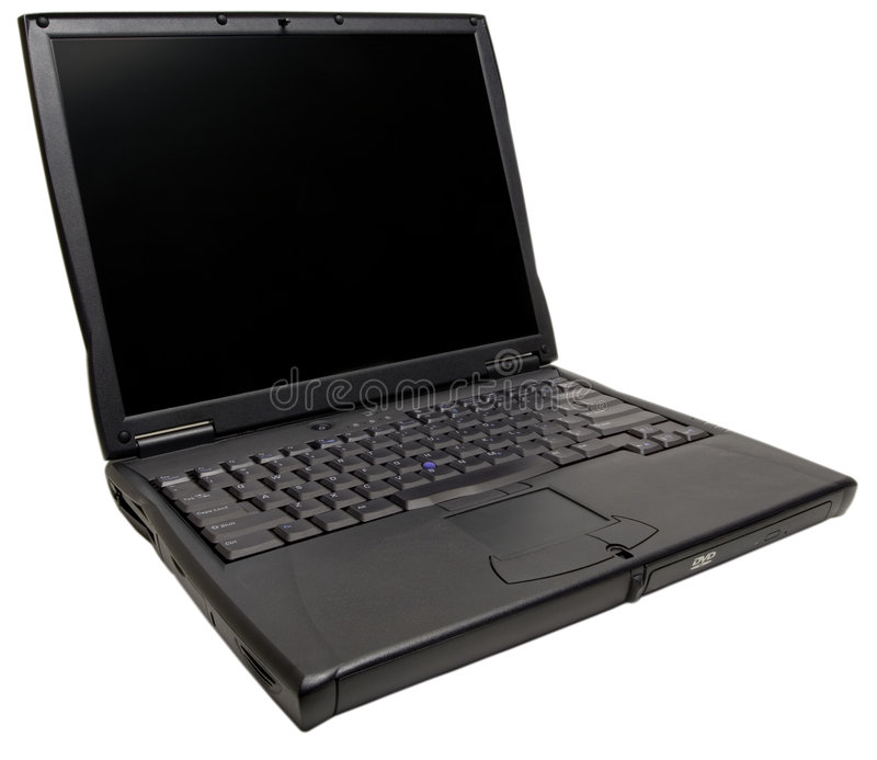 剪报计算机膝上型计算机路径 图库摄影