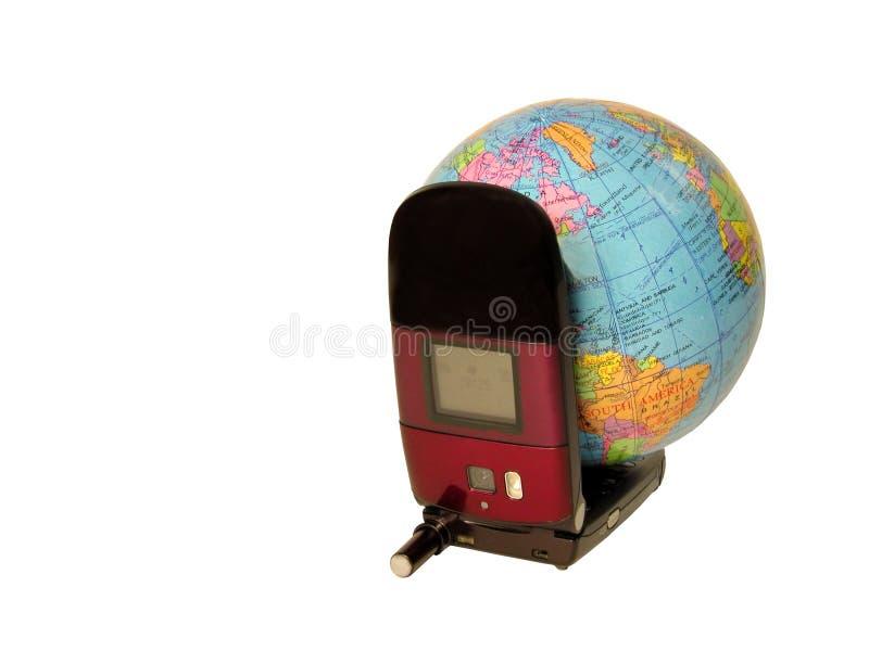 剪报通信全球路径 库存照片