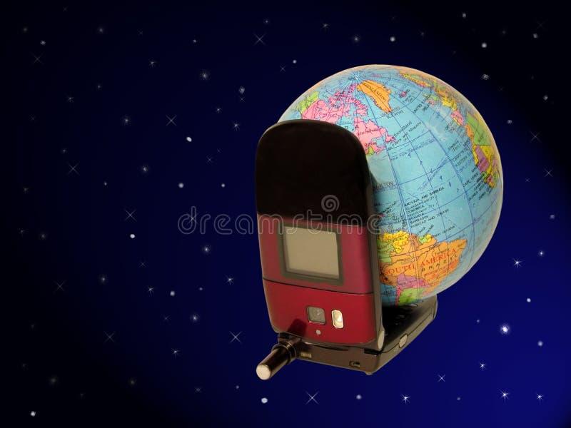 剪报通信全球路径 库存图片
