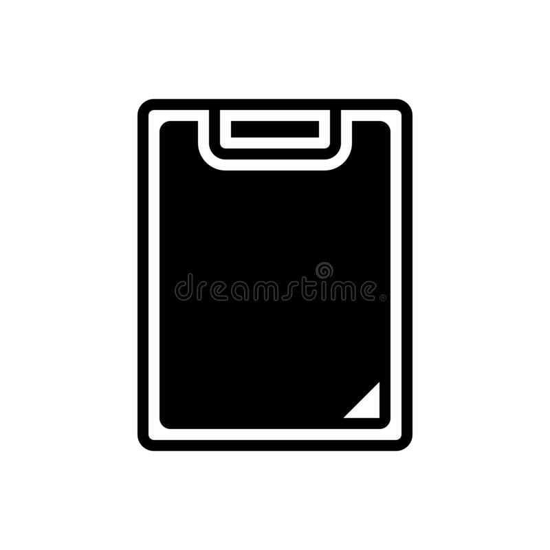 剪贴板、任务和编辑的黑坚实象 皇族释放例证