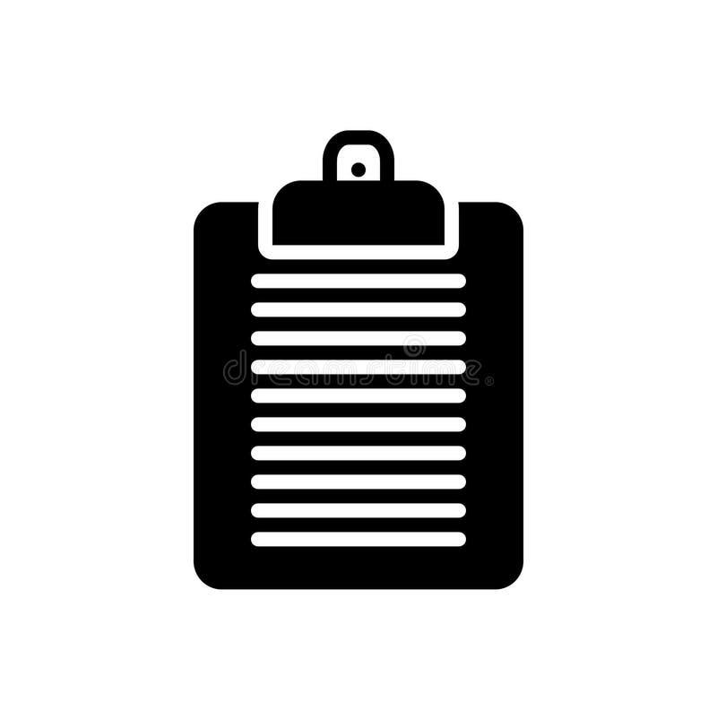 剪贴板、编辑和任务的黑坚实象 皇族释放例证