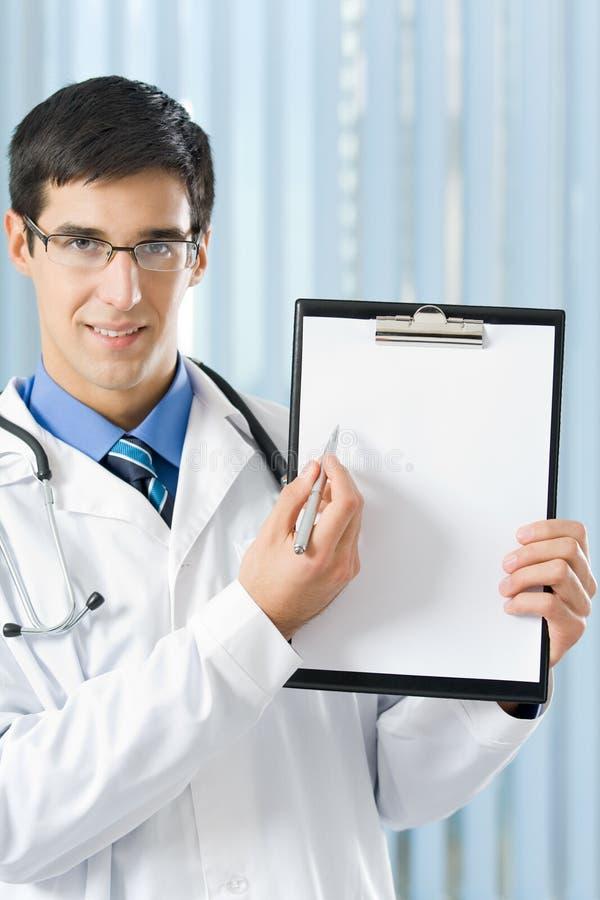 剪贴板医生办公室 库存图片