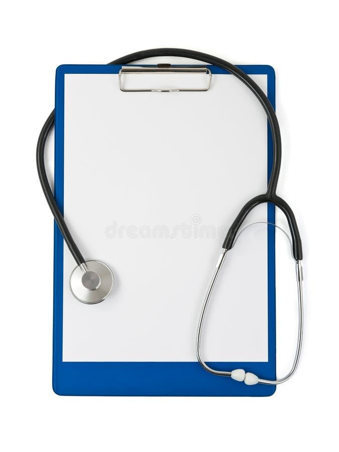 剪贴板医疗听诊器 免版税库存图片