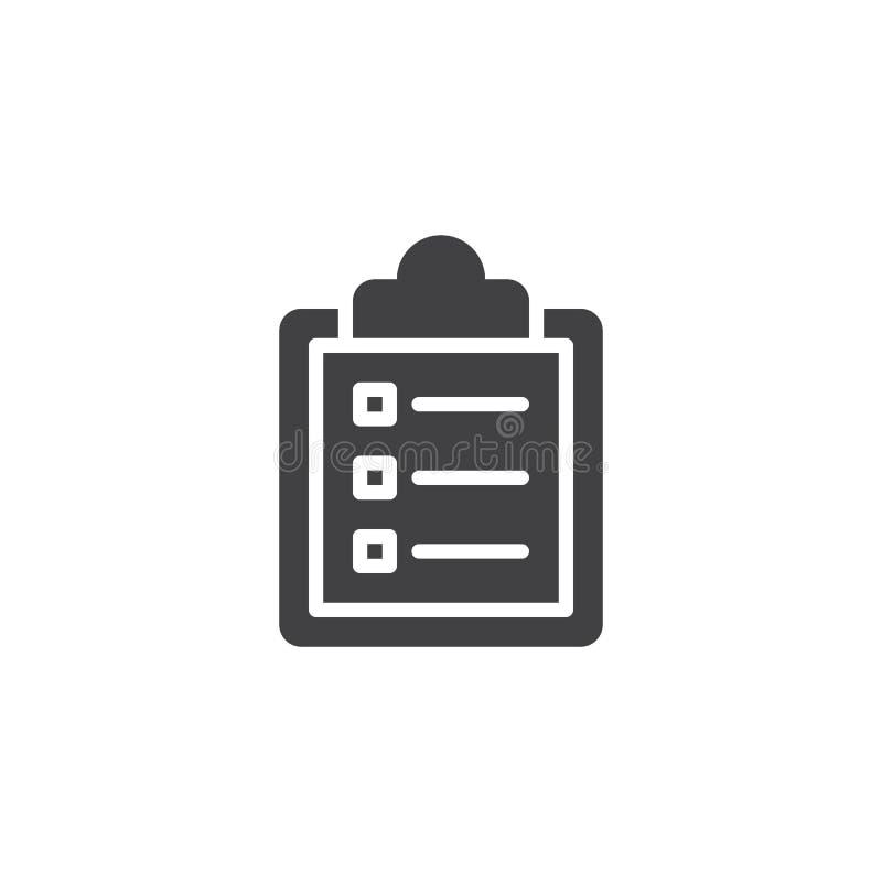 剪贴板清单传染媒介象 向量例证