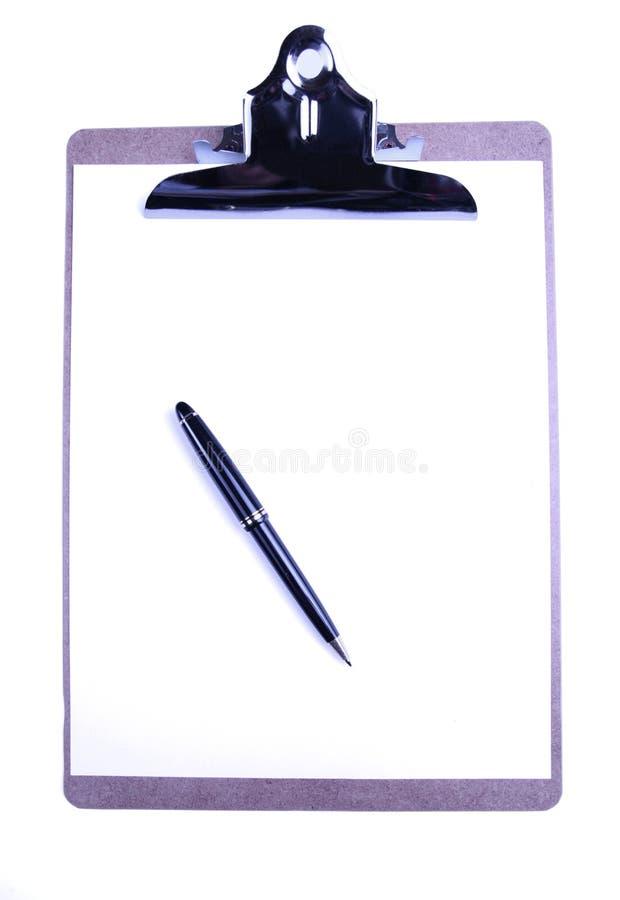 剪贴板纸笔 库存照片