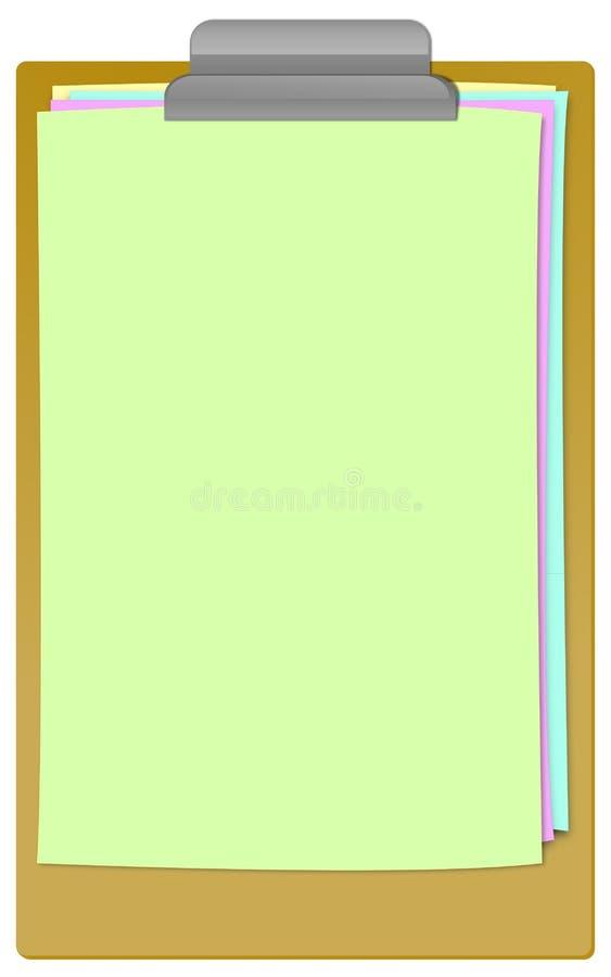 剪贴板设计 向量例证