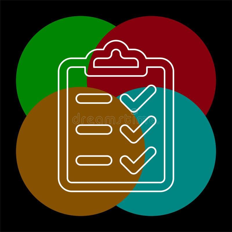 剪贴板象-传染媒介清单 库存例证