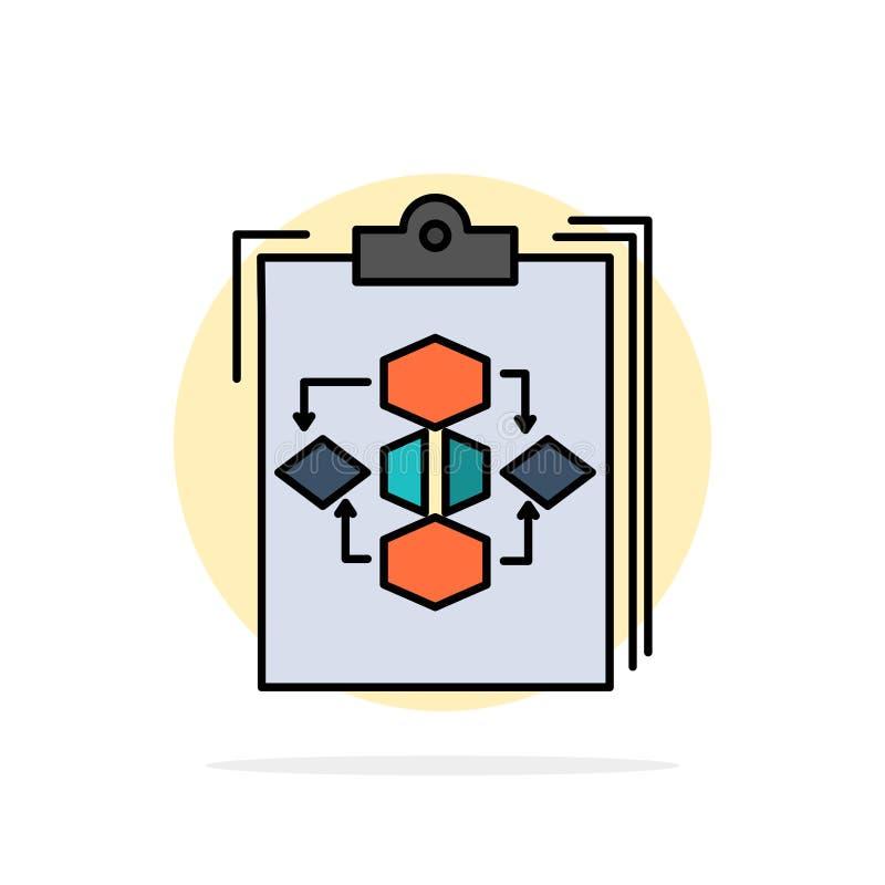 剪贴板,事务,图,流程,过程,工作,工作流摘要圈子背景平的颜色象 库存例证