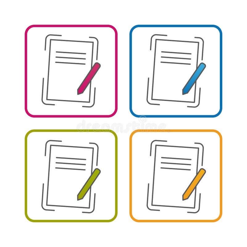 剪贴板-概述称呼了象-在白色背景-传染媒介例证-隔绝的编辑可能的冲程 库存例证