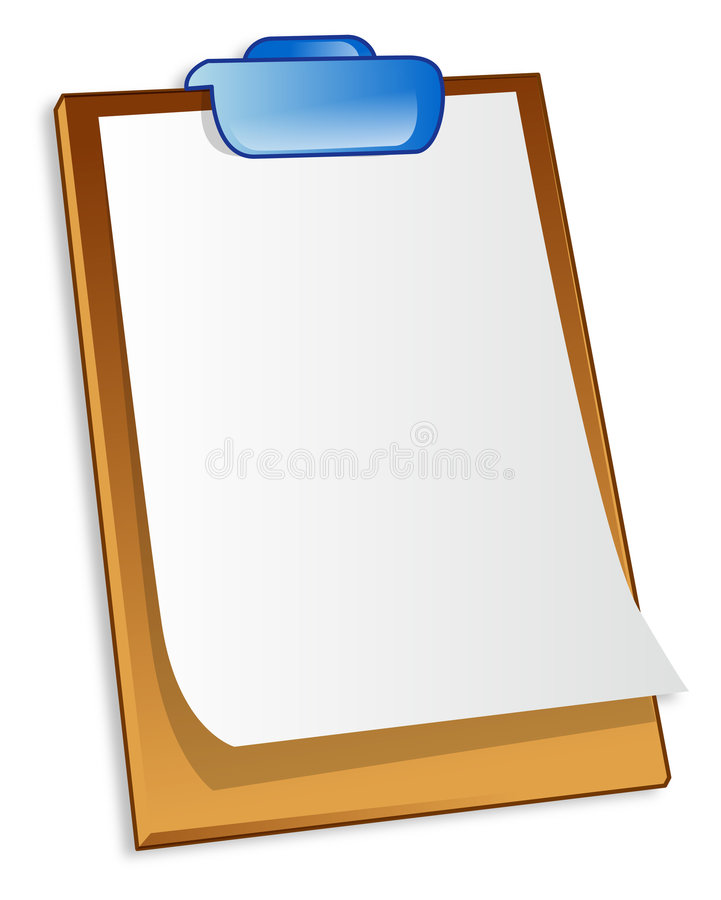 剪贴板 库存例证
