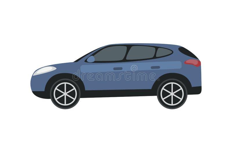 剪贴美术蓝色汽车 向量例证