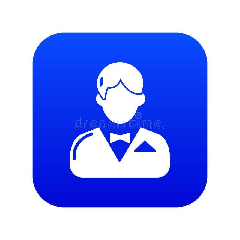副主持人象蓝色传染媒介 向量例证