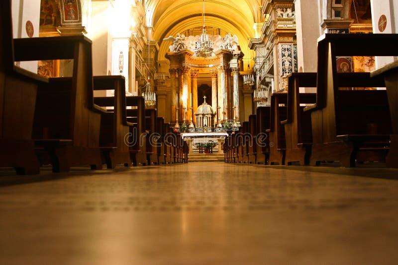 副法坛在圣皮特的Bascilica。 免版税库存图片