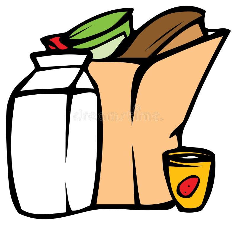副食品 向量例证