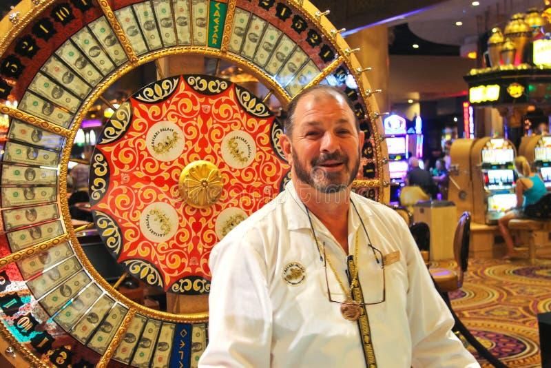 副主持人赌博娱乐场在凯撒宫中在拉斯维加斯 免版税库存图片