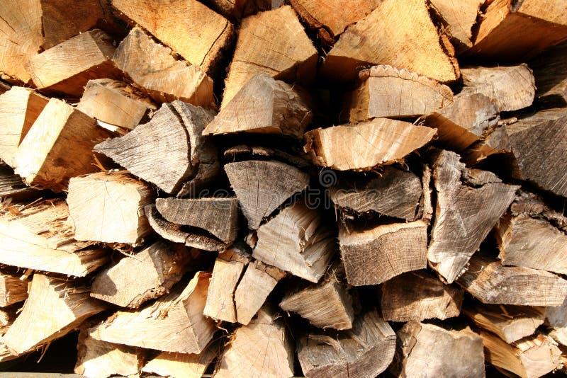 割断的木头 免版税库存照片