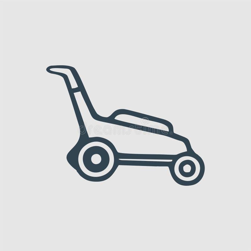 割草机组合图案商标 向量例证
