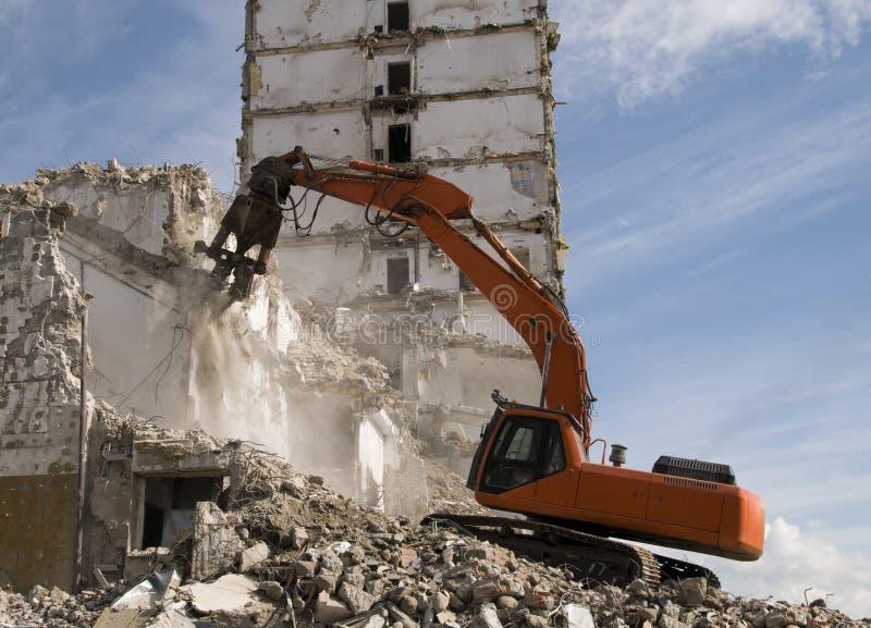 水力压碎器挖掘机 免版税库存照片