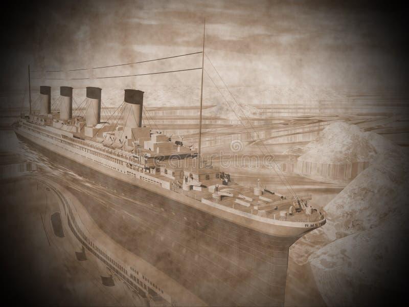 力大无比的船- 3D回报 库存例证