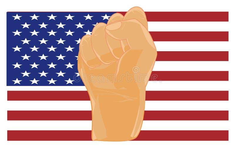 力量和美国 皇族释放例证