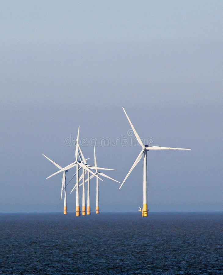 力量和能量windfarms 免版税图库摄影