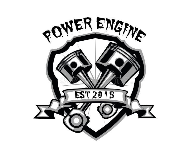 力量引擎 向量例证