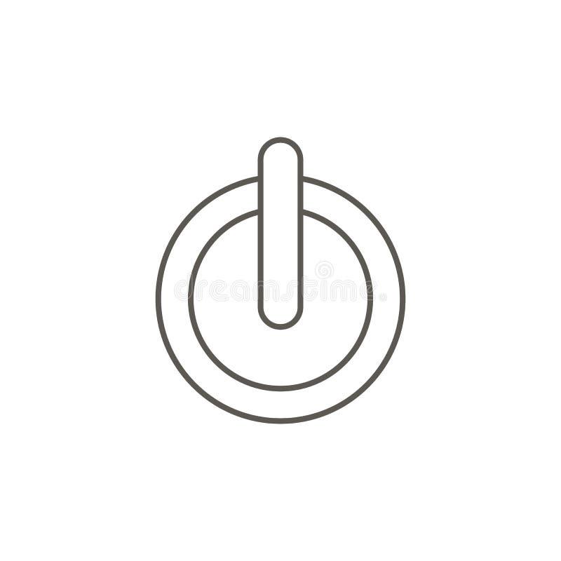 力量按钮传染媒介象 r 力量按钮传染媒介象 r 向量例证