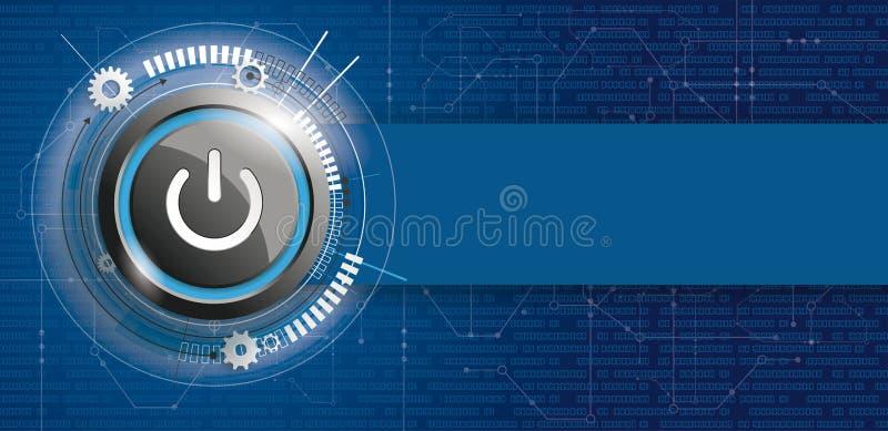 力量按钮电路板横幅数据 皇族释放例证