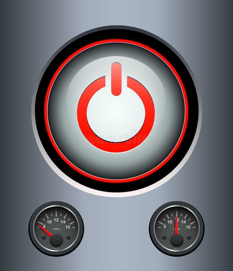 力量按钮背景 库存例证