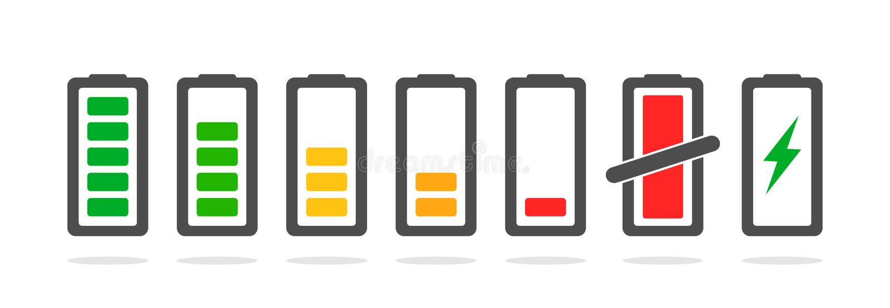 力量放电和充电 库存例证