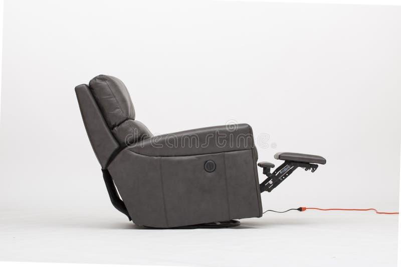 力量皮革可躺式椅椅子-图象 免版税库存图片