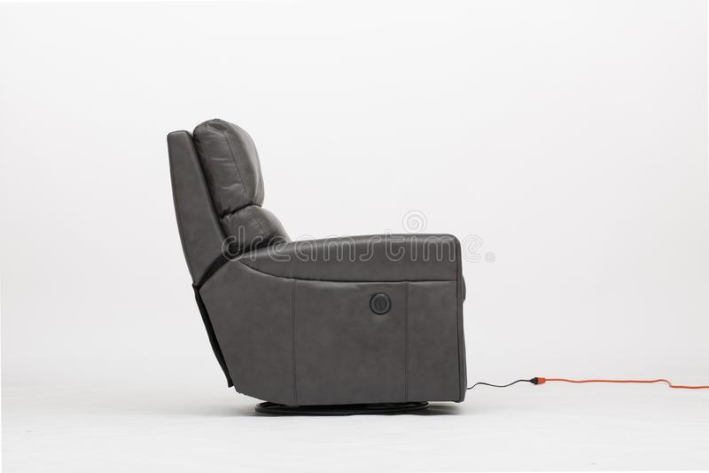 力量皮革可躺式椅椅子-图象 图库摄影