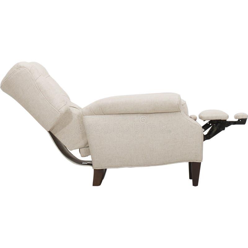 力量皮革可躺式椅椅子-图象 库存照片