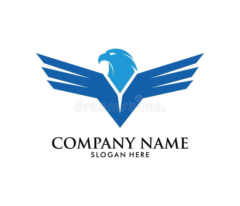 力量自由强的老鹰菲尼斯传染媒介商标设计 库存例证