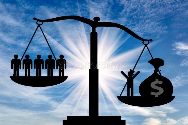 力量金钱社会经济 向量例证