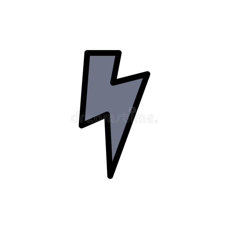 力量,基本,Ui平的颜色象 传染媒介象横幅模板 皇族释放例证