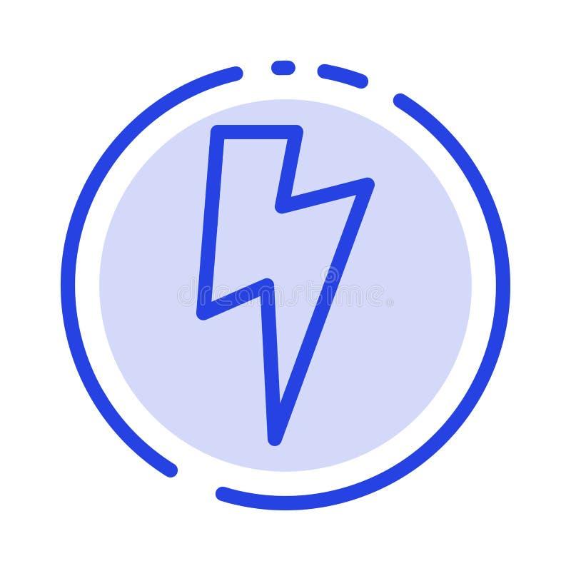 力量,基本,Ui蓝色虚线线象 向量例证