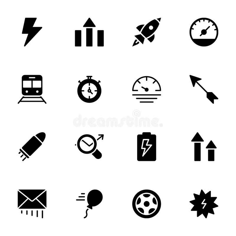 力量,速度,图表,Sprint,坚实象包装 库存例证