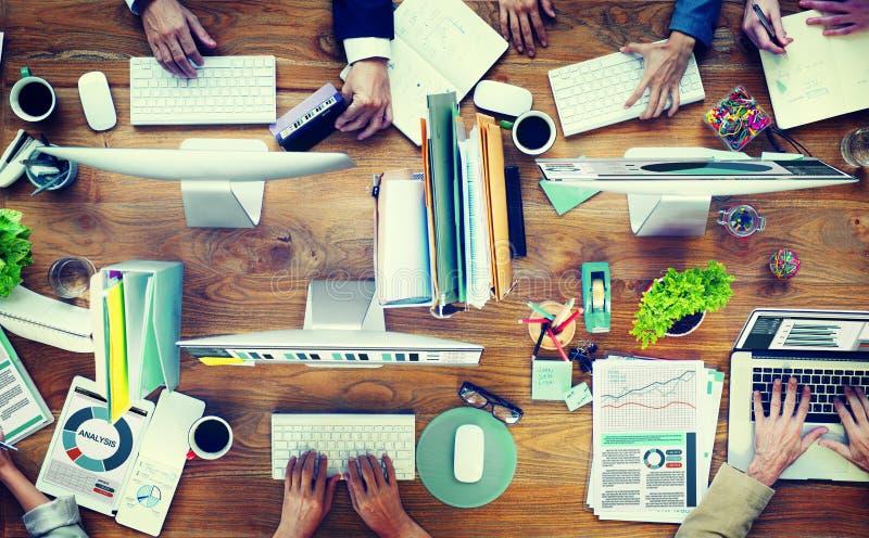 办公室事务Adminstratation开始会议概念 库存图片