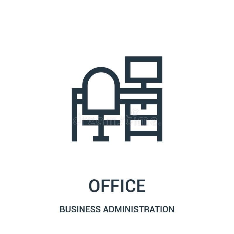 办公室从工商管理汇集的象传染媒介 稀薄的线办公室概述象传染媒介例证 皇族释放例证
