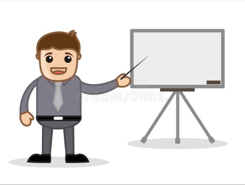 介绍-办公室和商人漫画人物传染媒介例证概念 库存例证