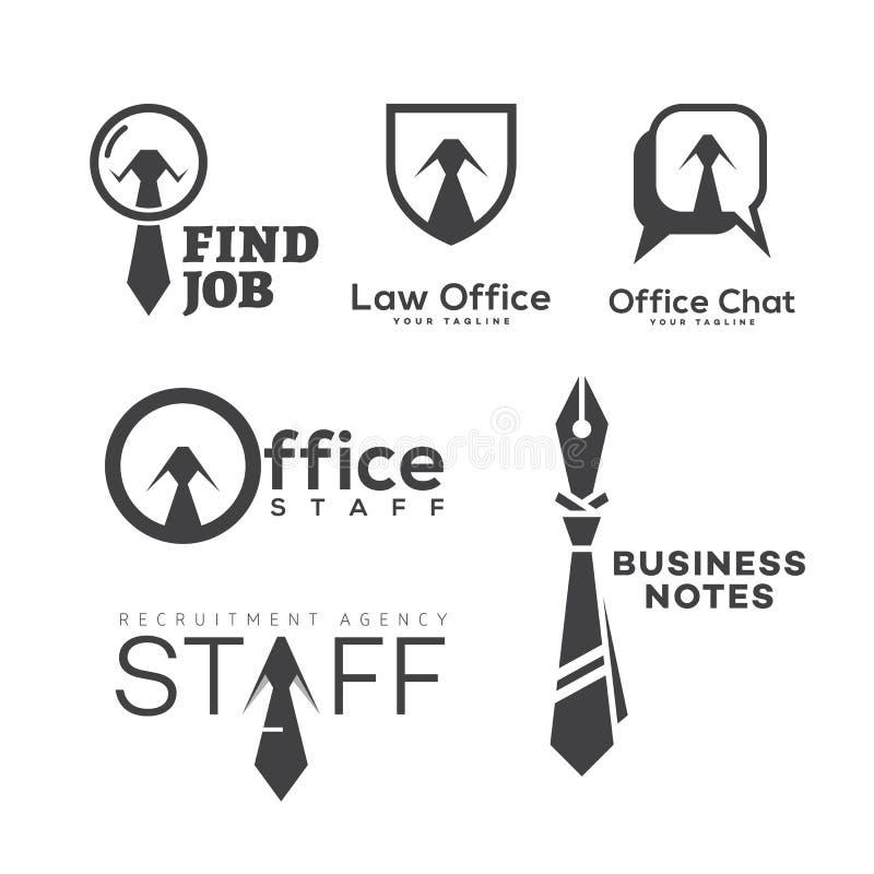 办公室商标集合 向量例证