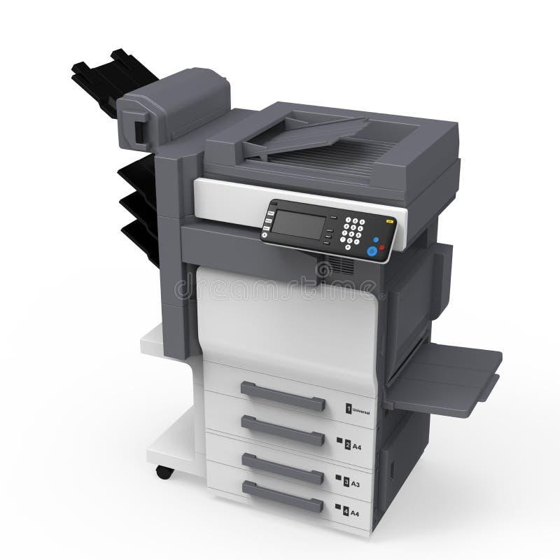 办公室多功能打印机 库存例证