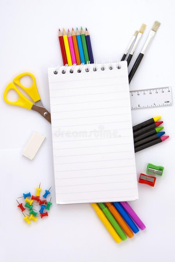 办公室学校工具 库存图片