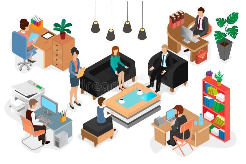 办公室工作人员在工作和交涉.图片
