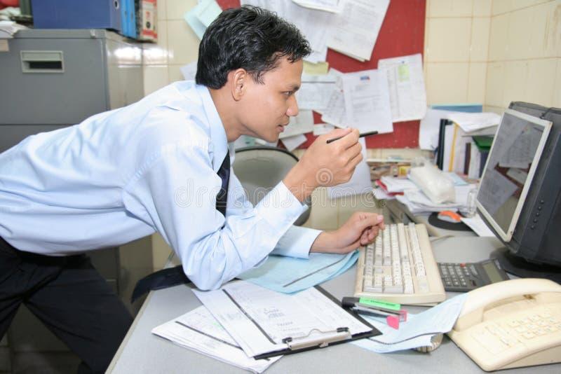 办公室工作人员工作者 库存图片