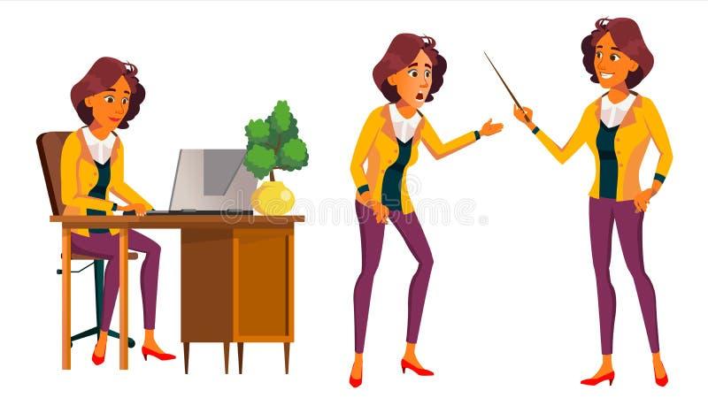 办公室工作者传染媒介 妇女 现代雇员,民工 前面,侧视图 2 business woman 情形 情感,姿态 库存例证