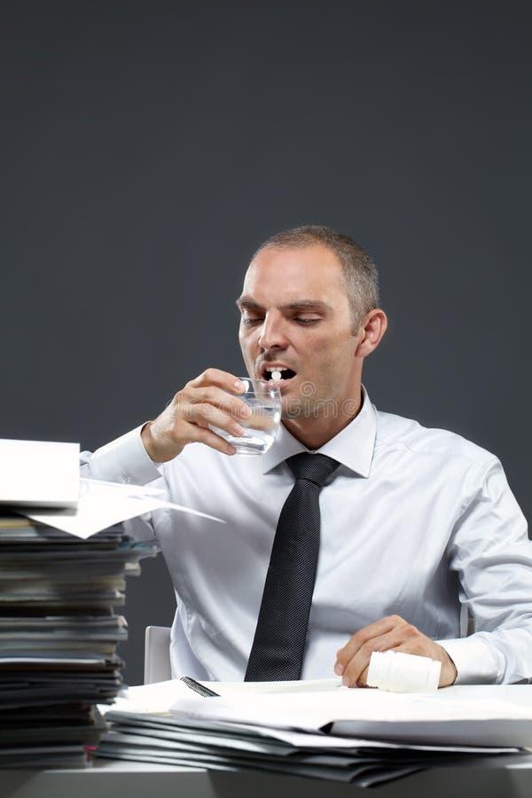 办公室憔悴 免版税库存照片