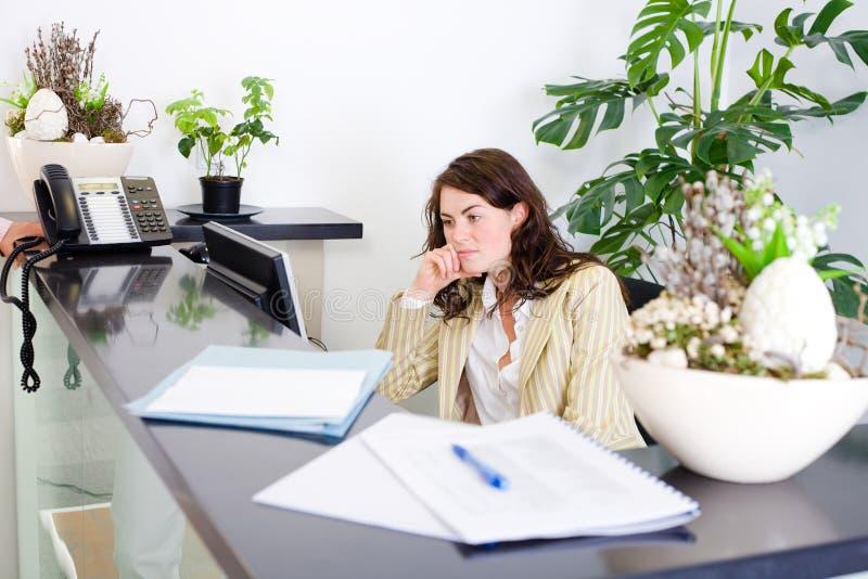 办公室招待员 免版税图库摄影