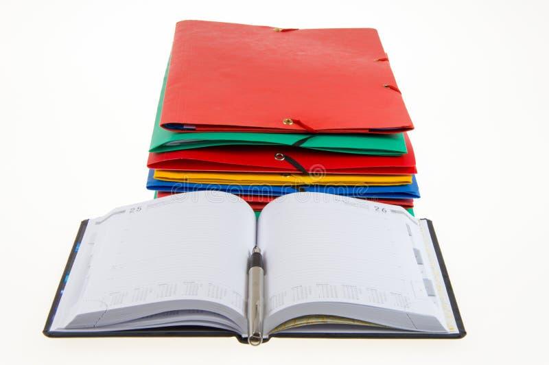 办公室文件夹 免版税图库摄影